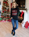 Santa Baby Graphic Tee - Black