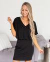 Secretly Smitten Dress - Black