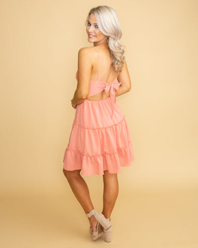 See You In Miami Lace Dress - Peach