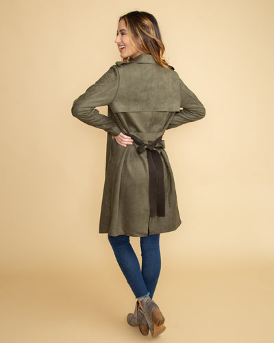 See You In San Francisco Coat - Olive