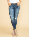 Serena Distressed Skinny Jeans - Medium Wash