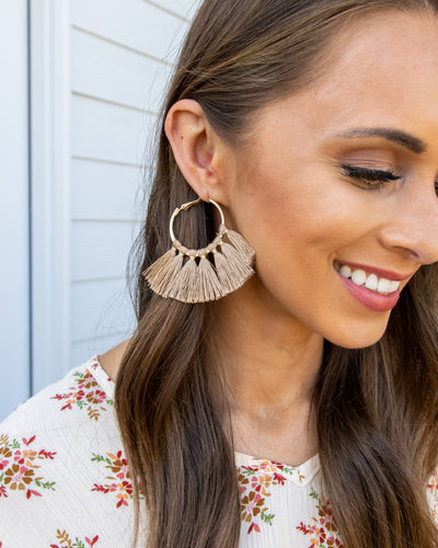 Serenity Earrings - Mocha