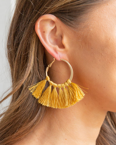 Serenity Earrings - Mustard