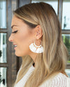 Serenity Statement Earrings - White