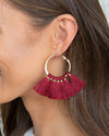 Serenity Statement Earrings - Wine