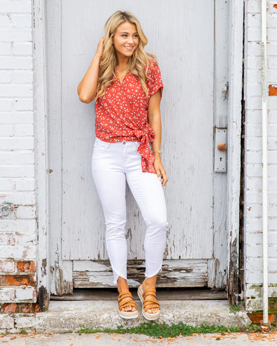 Set For Summer Top - Coral Red