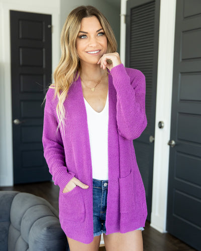 Set On You Cardigan - Orchid