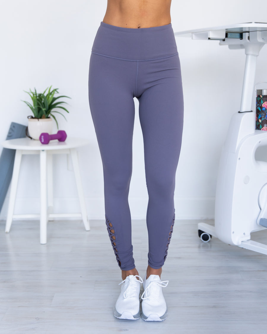 Setting Records Leggings - Plum Grey