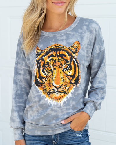 She's A Wild One Sweatshirt - Grey