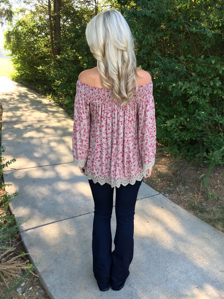 Meadow Lark Off-Shoulder Top - Mocha