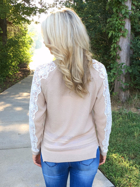 Cable Knit Knockout Sweater - Creamy Beige