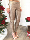 Life Of The Party Sequin Leggings - Champagne