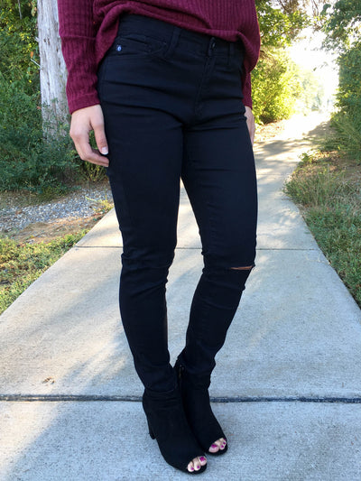 Essential Ripped Skinny Jeans - Black