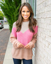 Shoulder To Lean On Sweater - Tan Multi