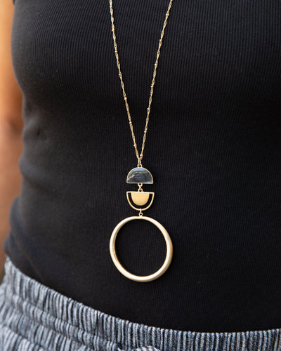 Sia Statement Necklace - Black