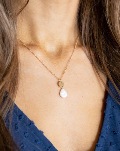 Silas Pearl Necklace - Gold
