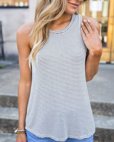 Simple Perfection Tank - Black/White