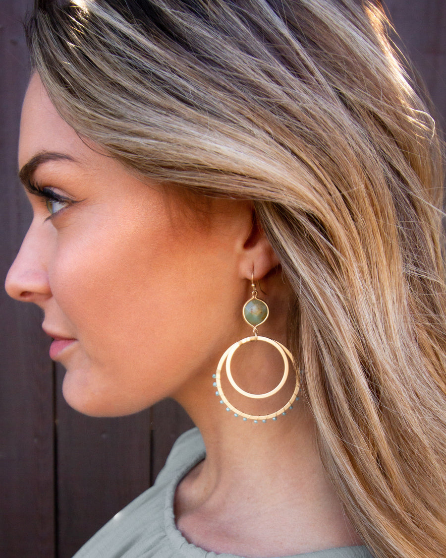 Skylar Hoop Earrings - Mint