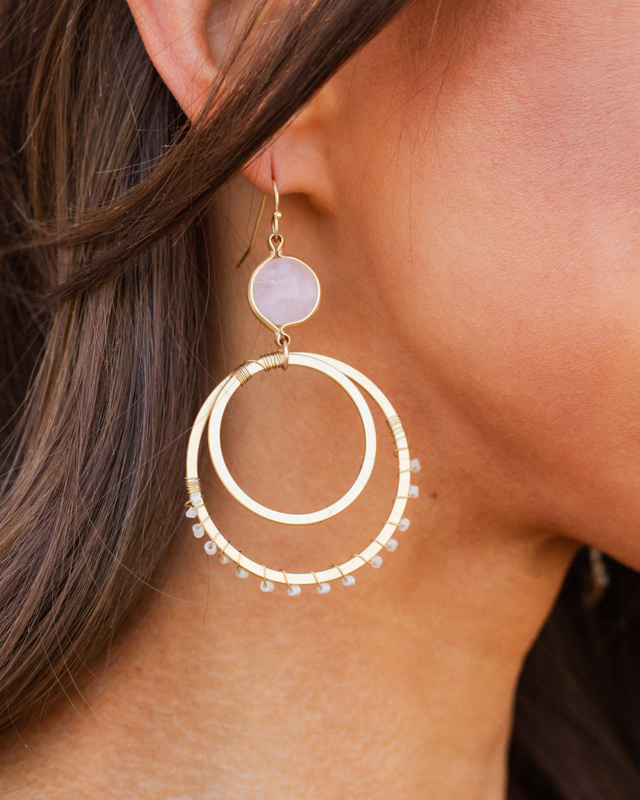 Skylar Hoop Earrings - Pink