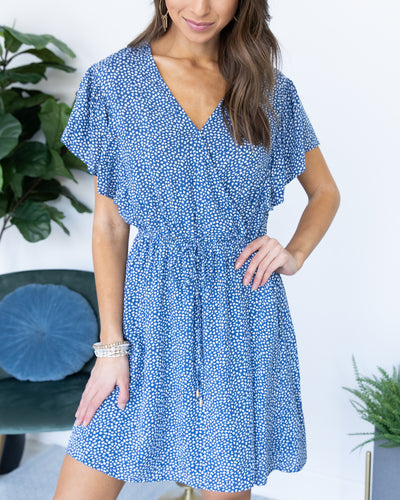 Slip Into Sweetness Dress - Denim Blue