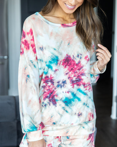 Slow Mornings Top - Fuchsia Multi