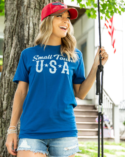 Small Town U.S.A Tee - Blue