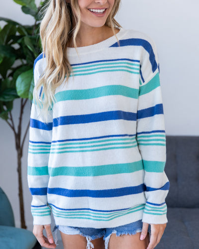 So Worth It Sweater - Blue Multi