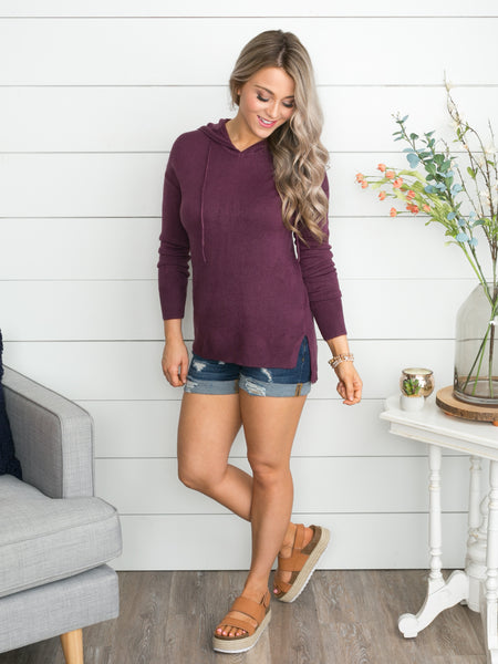 So Much More Pullover - Plum