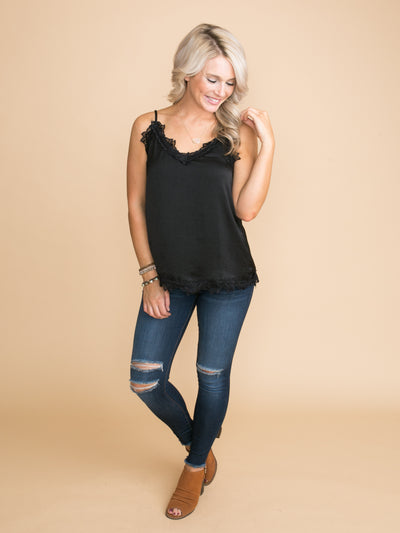 Something Special Lace Camisole - Black
