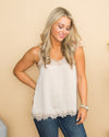 Something Special Lace Camisole -  Champagne