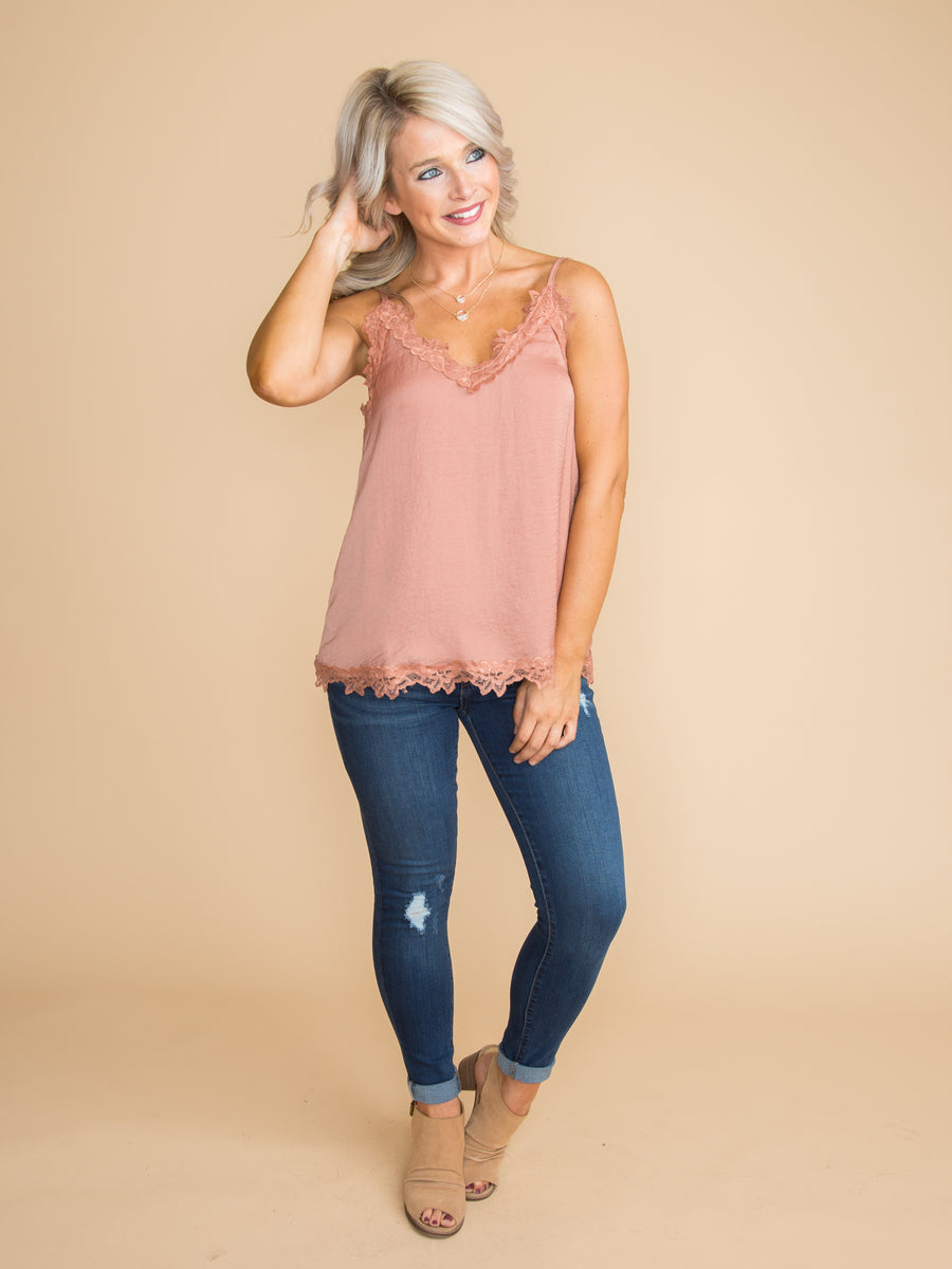 Something Special Lace Camisole - Desert Sand