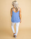 Something Special Lace Camisole - Sky Blue