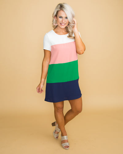 Speak For Yourself Color-Block Dress - Multi