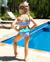 Splash Into Summer Stripe Bikini - Periwinkle