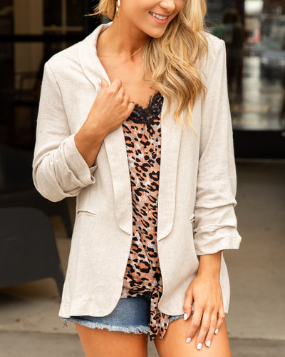 Spread The Word Blazer - Beige