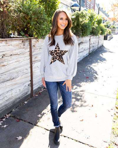 Star Of The Show Top - Grey