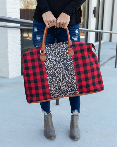 Stay The Night Weekender Bag - Red