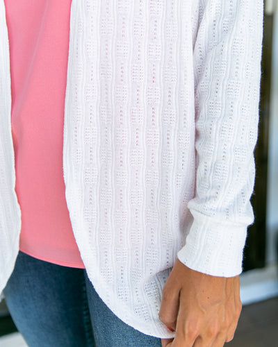 Staying Busy Cardigan - White
