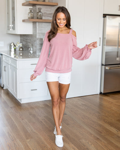 Staying Simple Top - Mauve