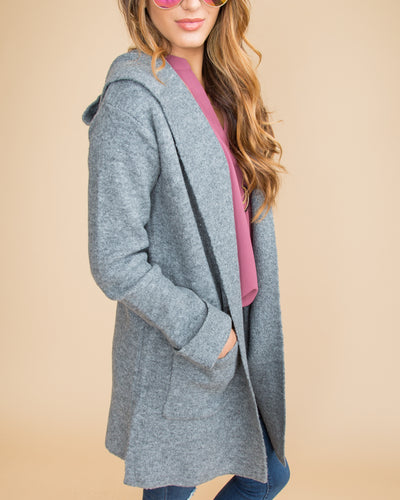 Steal The Show Oversized Cardigan - Grey