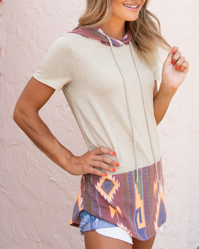 Step In The Right Direction Top - Beige