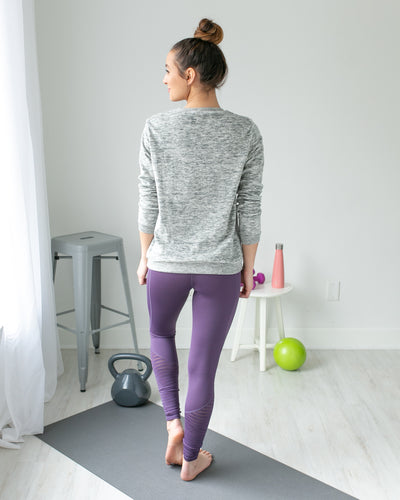 Step Up Textured Legging - Electric Purple