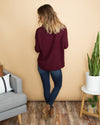 Still Chasing You Sweater - Burgundy