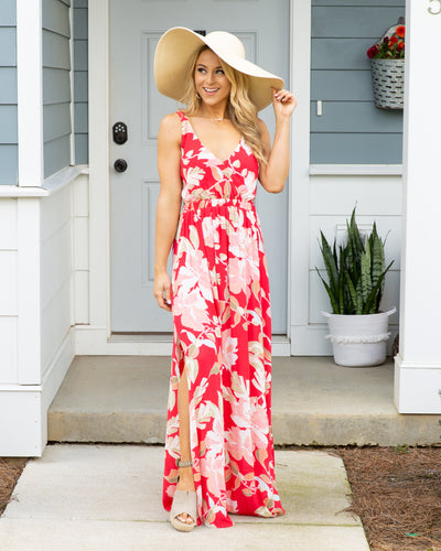 Summer Fun Maxi Dress - Raspberry