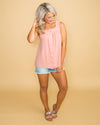 Summer Sensation Linen Button Top - Dusty Pink