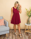 Surrounded With Beauty Dress - Wine