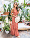 Sway Into Style Maxi Dress - Rust