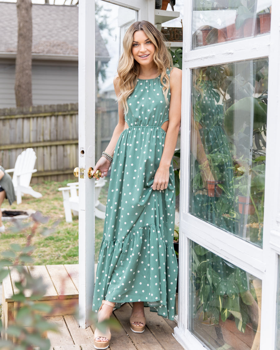 Sway Into Style Maxi Dress - Sage