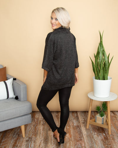 Sway Into Style Sweater - Charcoal