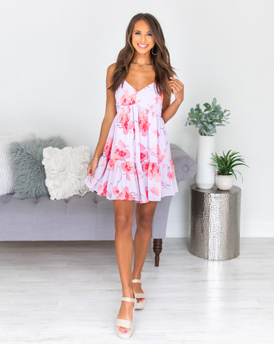 Sweet As Sunshine Dress - Lilac